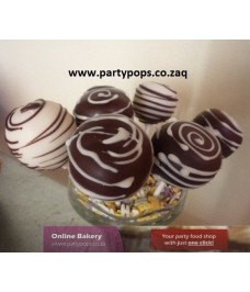 Striped Cake Pop