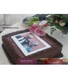 Sponge cake with rice paper picture